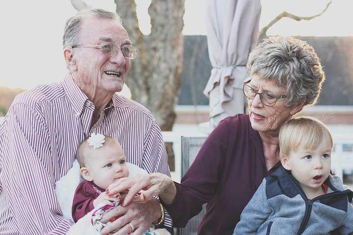 Foto van grootouders