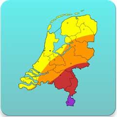 kaart met pollen in nederland