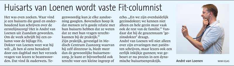 Introductie column dokter van Loenen